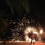 Fire show. NY eve celebration.