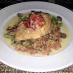 seared trout entree