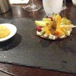 Roue de sablé et crème de mascarpone à la vanille Bourbon, Abondance de fruits frais et sorbet m