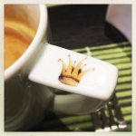 auch ein Froschkönig trinkt Kaffee