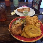 Pork lunch and Ham and Cheese Empanada