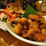 タコの唐揚げ&サラダ / Deep-fried octopus with Salad