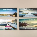A selection of Stoke Gabriel Postcards available