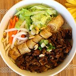 Grilled Pork and Spring Roll Vermicelli