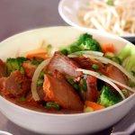 Barbeque Pork Egg Noodle Soup