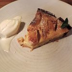 Calvados buttered apple tart and ice cream