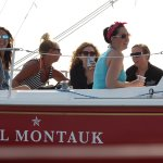 Girls day out on the water! Sailing with friends in Montauk.