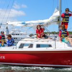 Kids camp! Kids ages 10-16 learning to sail in Montauk. East Hampton, Long Island, The Hamptons.