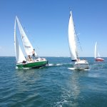 A group of 20 bachelors sailing in Montauk.
