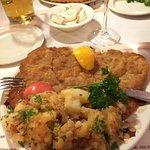 MASSIVE portion of schnitzle