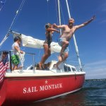 Family sailing and swimming in Montauk! Cannon balls are encouraged!