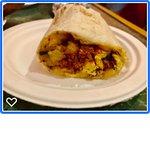 Burrito with local chorizo