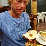whole fried fish & shrimp soup
