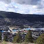 View of Drammen from hill top
