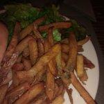 pommes de terre noires et gorgees d'huile