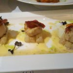 La Tavola - Sea Scallops with Caviar and Asparagus was Delicious!!