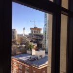 daytime view of the 10th floor corner spa room and petco park.