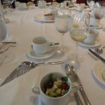 1st course at luncheon in Drumossie Suite, Drumossie Hotel, Inverness, Scotland