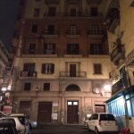 La Concordia is on the 4th or 5th Floor of this residential apartment building in Napoli.