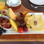 Wonderful breakfast fruit platter