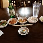 Delicious traditional taste of Korean cuisine.   Starters with Chim Churum and other tasty goodi