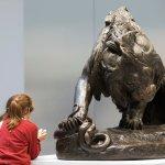 bronze by Barye - exhibited