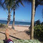 Vista de la playa desde nuestro lugar de almuerzo