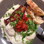 Crispy pork belly with creamy grits