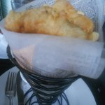 Fish & chip cone at Mulligans