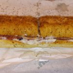 Chicken Bacon Ranch footlong on Italian Herb and Cheese.