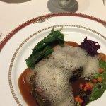 Pistachio crusted tenderloin with foam