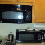 Two microwaves, but no counter space.