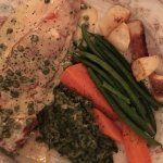 Salmon with capers and spinach