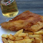 Haddock fish n chips