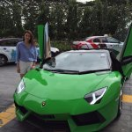Beautiful Lady with our stunning Aventador