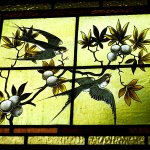 Just one example of the many pieces of stained glass