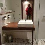 Bathroom in my standadr twin room.