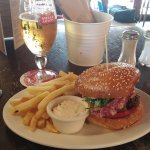 Burger of the day plus a Stella for $12