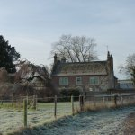 Looking back at the farmhouse, cold and frosty December morning.