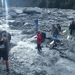 crossing the small muddy creek