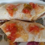 Bean and cheese breakfast burrito