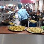 Snacks under preparation