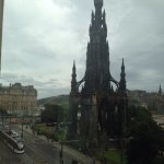 The Scott Monument and tram on Princes Street