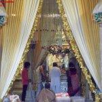 Pooja inside the temple