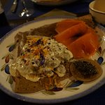 galettes creme artichauds + saumon sauvage fumée....