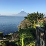 View of Lake Atitlan from the terrace