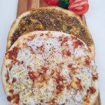 Zaatar Flatbread & Beef and cheese flatbread