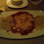 cheese enchiladas with spaghetti sauce