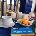 Breakfast on the balcony at Rumi Wasi