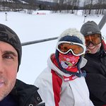 A fun day skiing with besties